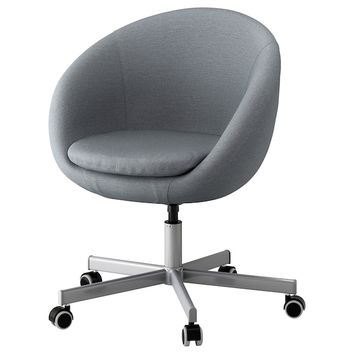 SKRUVSTA Swivel chair - Vissle gray - IKEA