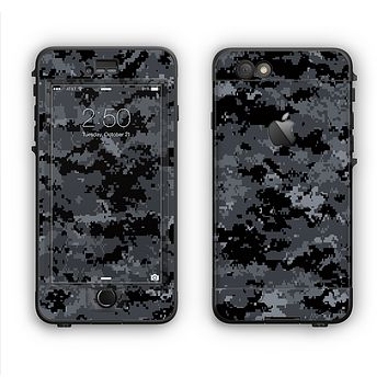 The Black Digital Camouflage Apple iPhone 6 LifeProof Nuud Case Skin Set