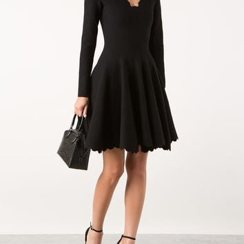 AZZEDINE ALAÏA GALAXY BLACK STRETCH KNITTED DRESS