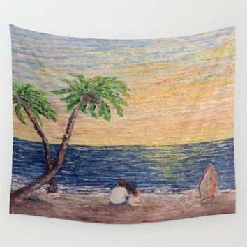 Oil Painting Print Wall Tapestry by Annette Forlenza