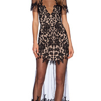 For Love & Lemons Luau Maxi Dress in Black