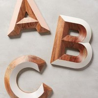 Woodshop Monogram Letter by Anthropologie in Assorted Size: