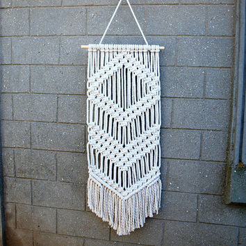 Bohemian wall hanging Boho wall decor Geometric wall art Macrame wall hanging tapestry Bedroom decor Handicraft retro home decor 70s decor