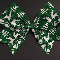 3in. Glitter Ugly Christmas Sweater  Cheer Bow