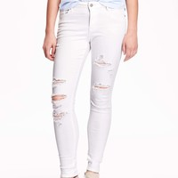 Mid-Rise Rockstar Distressed Jeans | Old Navy