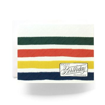 Antiquaria - Camp Blanket Birthday Handsome Greeting Card