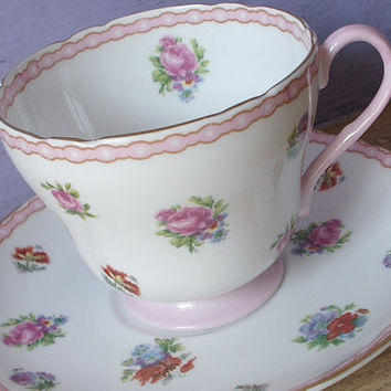 Antique tea cup and saucer set vintage Shelley by ShoponSherman