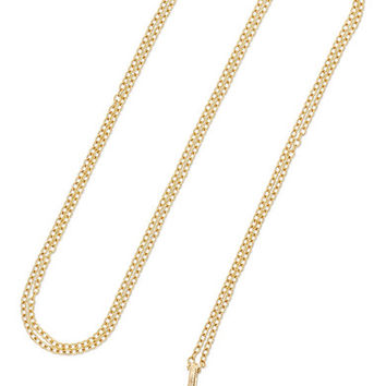 Loquet - 14-karat gold glass necklace