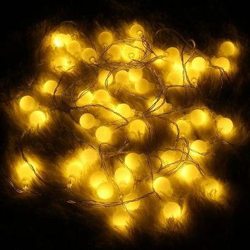 LMF4AX 3/5M 20/50 LED String Light Battery Powered Round Bulb Shaped Christmas Wedding Party Fairy Light Holiday Lamp Non Waterproof