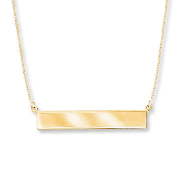 Bar Necklace 14K Yellow Gold