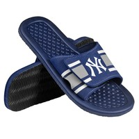 New York Yankees Slide Sandals - Men (Blue)