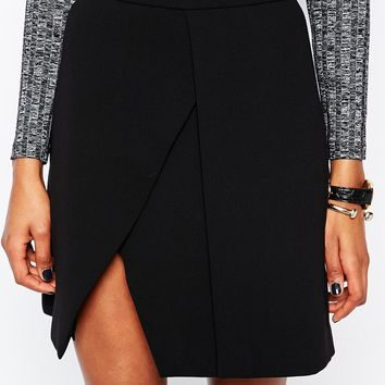 Whistles Wrap Mini Skirt