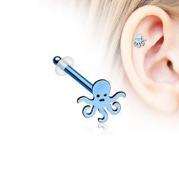 Colorline Evil Octopus Piercing Stud with O-Rings