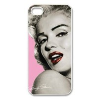 Marilyn Monroe Carrying Case for iPhone 5, red lip iphone case