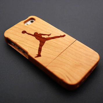 Jordan Cherry Wood iPhone 5s Case - Real Wood iPhone 5 Case - Custom iPhone 5s Case Wood - Wooden iPhone 5 Case - Case iPhone 5s 5 - Gift