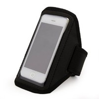 Black Running Sport Gym Armband Case Cover For HTC MyTouch 4G Slide /Apple iPhone 5 / Motorola Droid RARZ HD / Nokia Lumia 920 / Samsung Galaxy Victory 4G LTE / Samsung Galaxy S III, S3 / Samsung Galaxy S2, S II / Motorola Droid RAZR M / Motorola Droid RAZ