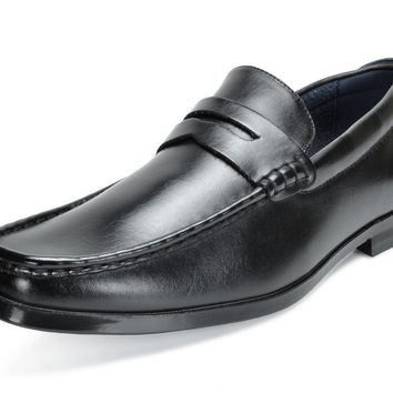 BRUNO MARC MODA ITALY HARRY-02 Men's Dress Classic Leather Lining Slip On Casual Penny Loafers shoes Black Pu 9.5 D(M) US '