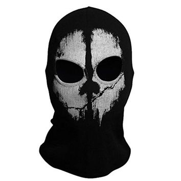 LumiParty Outdoor Multifunctional Magic Fleece Face Mask Tactical Scarf Headwear Neck Face Mask Ghost Scarf For Hunting Cycling