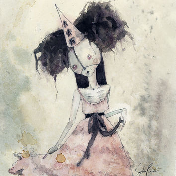 Masquerade Gal (print of an original painting by Sophia Rapata)