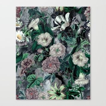 Floral Camouflage VSF016 Canvas Print by VS Fashion Studio