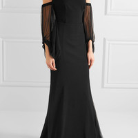 Rebecca Vallance - Orlando off-the-shoulder point d'esprit and crepe gown