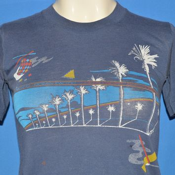 80s Ocean Pacific Palm Tree Pattern t-shirt Youth Large