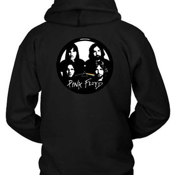 CREYH9S Pink Floyd Cd Plat Hoodie Two Sided