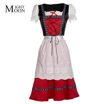 MOONIGHT Oktoberfest Women Cosplay Long Dress Costumes German Beer Wench Lolita Uniforms Halloween Party Costumes Macchar Cosplay Catalogue