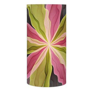 Joy, Pink Green Anthracite Fantasy Flower Fractal Flameless Candle
