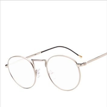 ONETOW 2017 new lace pattern frame glasses trend round box small clear glasses frame