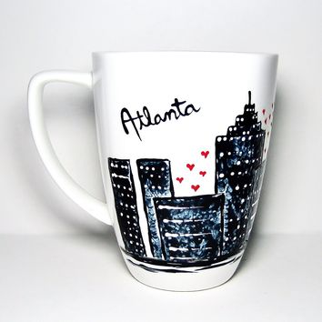 Long Distance Mug - Atlanta Georgia Skyline