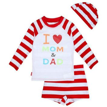 VONEML3 2017 Hot Sale Kids Swimwear for Girls Brand Summer Long Sleeves Girls Swimming Costume Two Pieces Bathing Suits with Cap