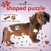 "Jigsaw Shaped Puzzle 500 Pieces 28""X17""-Dachshund - Walmart.com"