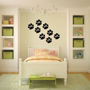 Cat Paw Prints Vinyl Wall Decal Sticker Graphic