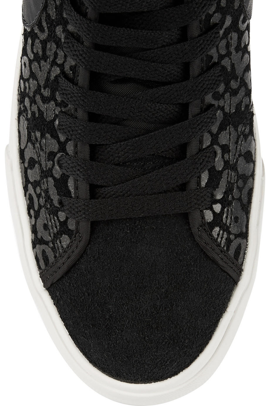 outlet store 9873f a8dc2 Nike - Primo Court leopard-print suede high-top sneakers