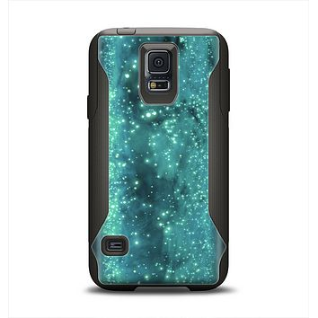 The Trendy Green Space Surface Samsung Galaxy S5 Otterbox Commuter Case Skin Set