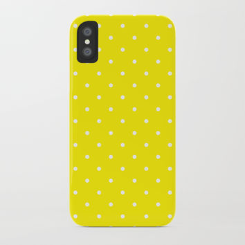 Small White Polka Dots with Yellow Background by CoolFunAwesomeTime