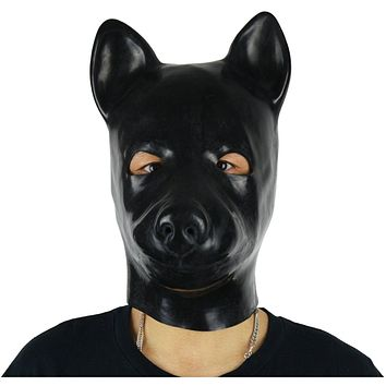 Black Latex Dog Mask