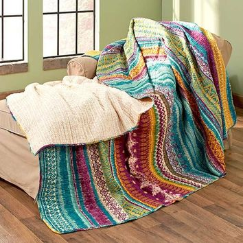 Southwest Tribal Quilt Bedding Full Queen King Reversible Cozy Quilted Teen NEW