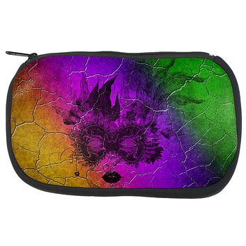 Mardi Gras Party Mask Distressed Grunge Flag Travel Bag