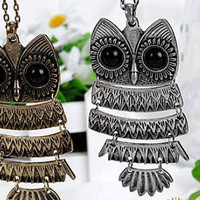 Necklace - 1pcs of Antique brass Owl Necklace or Antique Silver Owl Necklace