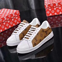 LV Popular Women Casual Running Sport Shoes Sneakers Brown