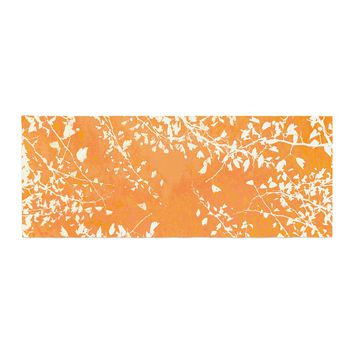 "Iris Lehnhardt ""Twigs Silhouette Orange"" Tangerine Bed Runner - Outlet Item"
