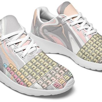 Periodic Table Marble Sneakers