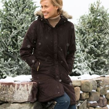 Women's Microsuede Quilted Coat