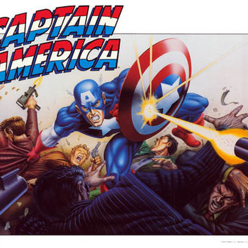Captain America 1989 Marvel Comics Poster 22x28
