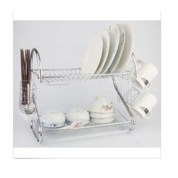 Kitchen Dish Cup Drying Rack Drainer Dryer Tray Cutlery Holder