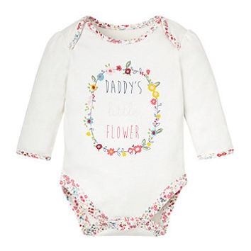 Daddy's Little Flower Bodysuit - bodysuits - Mothercare