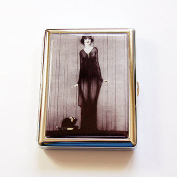 Cigarette box, Cigarette Case, Gothic, Metal cigarette case, Cigarette Holder, Goth, Goth cigarette case, Case for Pot (5078)
