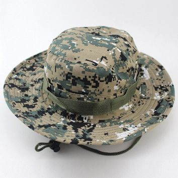 size 58cm digital camo hats for men,army green jungle bonnie hats outdoor fishing camping